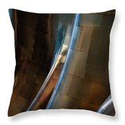 Metal Waves 1 Throw Pillow