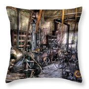 Metal Worker - Belts And Pullies Throw Pillow