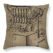 Metal Working Machine Patent Throw Pillow