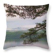Metalliak Mountain Beyond Richardson Throw Pillow