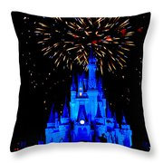 Metallic Castle Throw Pillow