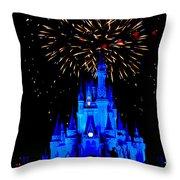 Metallic Castle Throw Pillow