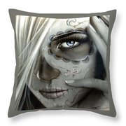 Metallic Decay Throw Pillow