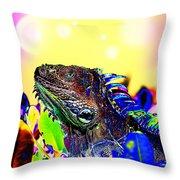Metallic Dragon Throw Pillow