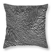 Ice - Metallic Ice Throw Pillow