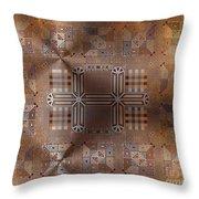Metallic Pattern Throw Pillow