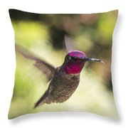 Metallic Red Head Throw Pillow