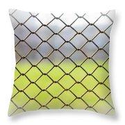 Metallic Wire Fence Throw Pillow