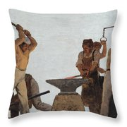 Metallurgy Throw Pillow