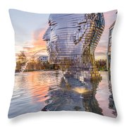 Metalmorphosis Statue Charlotte Nc Throw Pillow