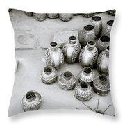 The Craftsman In Jodhpur Throw Pillow