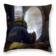 Metalworker  Throw Pillow