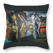 Metamophosis Of Narcissus Throw Pillow