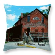 Metamora Grist Mill Throw Pillow