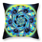 Metatron Swirl Throw Pillow by Derek Gedney