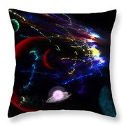 Meteor Explosion Throw Pillow