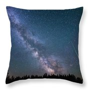 Meteor Milky Way  Throw Pillow
