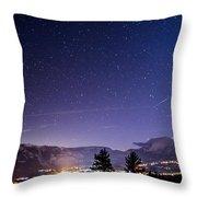 Mammoth Mountain At Night Throw Pillow