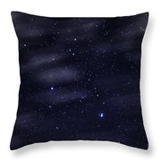 Meteor Stars And Clouds Throw Pillow