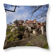 Meteora Monastary   #0679 Throw Pillow