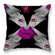 Meteoroid Creature  Coming From Comets And Androids Pop Art Throw Pillow by Pepita Selles