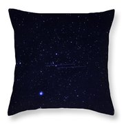 Meteors And Stars Throw Pillow