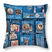 Meter Graffiti New Orleans Style Throw Pillow