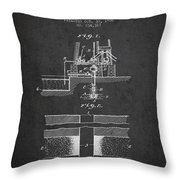 Method Of Drilling Wells Patent From 1906 - Dark Throw Pillow