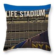 Metlife Stadium Super Bowl Xlviii Ny Nj Throw Pillow