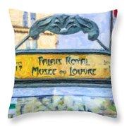 Metro Louvre Throw Pillow