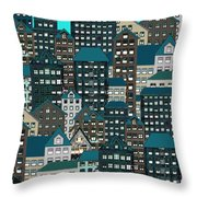 Metropolis Eight Throw Pillow
