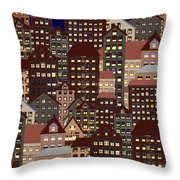 Metropolis Seven Throw Pillow
