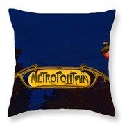 Metropolitain #1 Throw Pillow