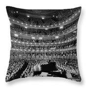 Metropolitan Opera House 1937 Throw Pillow