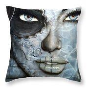 Metallic Messiah Throw Pillow