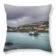 Mevagissy Cornwall Throw Pillow