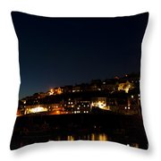 Mevagissy Nights Throw Pillow