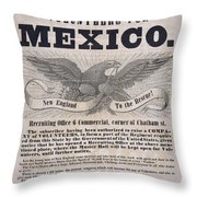 Mexican American War Flyer Throw Pillow