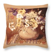 Mexican Bean Pot Throw Pillow