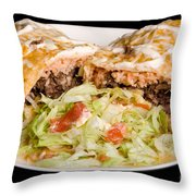Mexican Burrito Plate 2 Throw Pillow