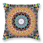 Mexican Ceramic Kaleidoscope Throw Pillow