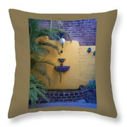 Mexican Courtyard Throw Pillow
