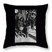 Mexican Day Armory Park Tucson Arizona 1973 Throw Pillow