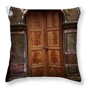 Mexican Door 56 Throw Pillow