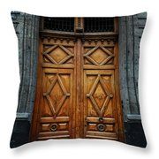 Mexican Door 68 Throw Pillow