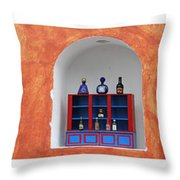 Mexican Facades Throw Pillow