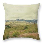 Mexican Mountains Throw Pillow