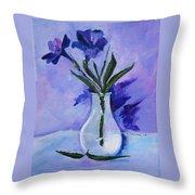 Mexican Petunias Throw Pillow