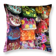 Mexican Purses Throw Pillow