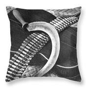 Mexican Revolution Guitar, Sickle Throw Pillow